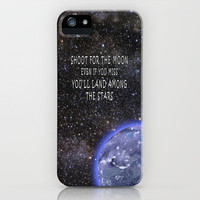 Shoot for the Moon iPhone Case for iphone 5, 4S, 4, 3GS, 3G by Alice Gosling | Society6