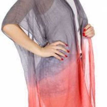 Ombre Light Ruana in One Size fits Most in 3 Colors