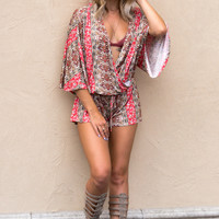 Moroccan Dreamin' Romper- Orange