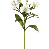 "Artificial Alstroemeria Spray in Cream White - 28"" Tall"