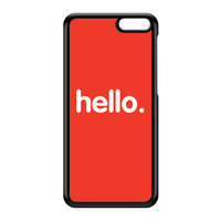 Hello Black Hard Plastic Case for Amazon Fire Phone by textGuy