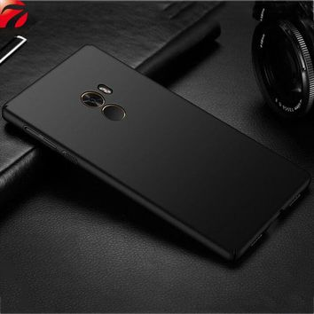"For Xiaomi Mi Mix 2 Case 5.99"" Slim Frosted Matte Hard Plastic PC Back Cover For Xiaomi Mi Mix2 Phone Cases Fundas Shell Coque"