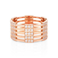 Izzy 18K Pink Gold Diamond Ring | Moda Operandi