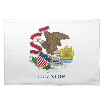 Illinois Flag American MoJo Placemat