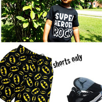 "Batman ""cotton"" Bermuda Shorts, Boy Batman Clothing, Long Batman Shorts For Toddler Boy Shorts 3t - 6 (Boxers Only)"