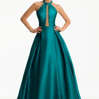 Mikado Illusion Plunge Dress from Camille La Vie and Group USA