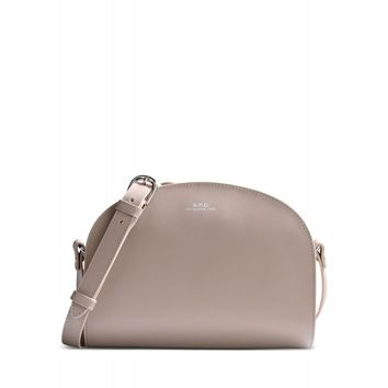 A.P.C. Half Moon Bag - Beige Crossbody - ShopBAZAAR