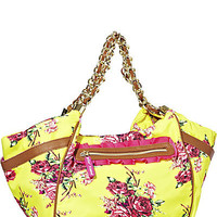BetseyJohnson.com - FLORAL EXPLOSION SATCHEL YELLOW