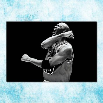 Michael Jordan Shoes MJ 23 Chicago Bulls NBA MVP Basketball Silk Canvas Poster 13x20 24x36inch Picture For Room Decor (more)-7