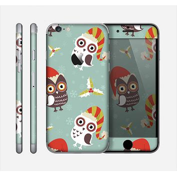 The Abstract Vintage Christmas Owls Skin for the Apple iPhone 6