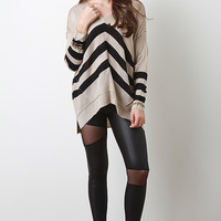 Triple Stripe Knit Sweater