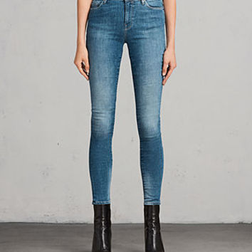 ALLSAINTS US: Womens Grace Jeans (Fresh Blue)