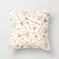 Capture My Heart Throw Pillow by Sandra Arduini