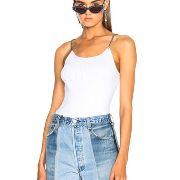 Alexander Wang Ribbed Tank in White | FWRD