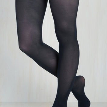 Layer It On Tights in Midnight Blue