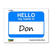 Don Hello My Name Is Sticker