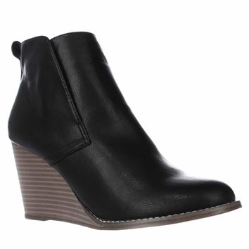 Nautica Calyan Wedge Ankle Boots, Black, 10 US / 40.5 EU