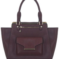 Burgundy Winged Tote Bag - New In