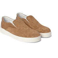 Bottega Veneta - Intrecciato Suede Slip-On Sneakers | MR PORTER