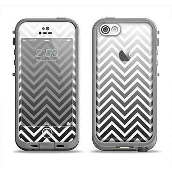 The White & Gradient Sharp Chevron Apple iPhone 5c LifeProof Fre Case Skin Set
