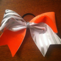3 3 inch cheer cheerleader bow SILVER and by blingitoncheerbows
