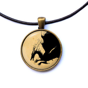Fantasy jewelry Dragon Age necklace geek pendant