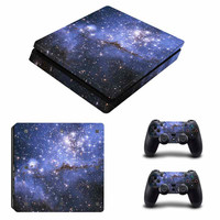 Dazzling Star Painted Vinyl Decal Skin For playstation 4 Console +2Pcs Stickers For ps4 Controllers