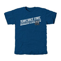 Tennessee State Tigers Rising Bar Primary Tri-Blend T-Shirt - Royal Blue