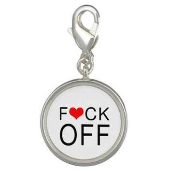 F Heart CK Off Customizable Charm