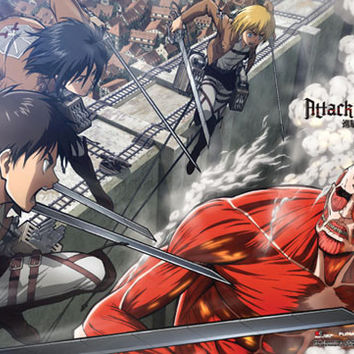 Attack on Titan Special Edition Group Wallscroll