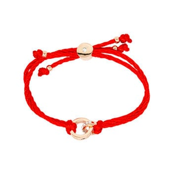 Austrian Crystals jewelry red thread string rope Charm Bracelets & bangles for women Fashion New sale Top Hot summer style