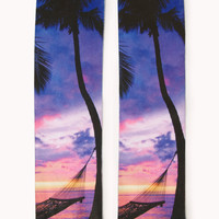 Tropical Sunset Crew Socks