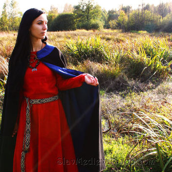 Medieval Viking cloak, medieval pattern, historical costume, Middle Ages, a semicircle coat, Scandinavia, Fantasy, Goth