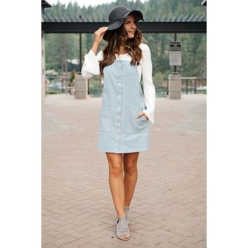 Jumping To Conclusions Dress (Misty Blue)