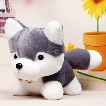 OCDAY 18CM Husky Plush Toy Simulation Dog Baby Sleeping Appease Doll Kids Birthday Xmas Gifts Toys For Kids Stuffed Animals Toys