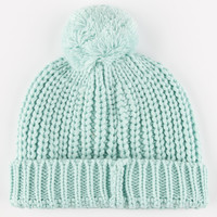 Yea.Nice Everyday Pom Beanie Mint One Size For Women 26396752301