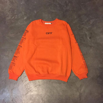 VLONE x Off-White Orange Sweatshirt crewneck