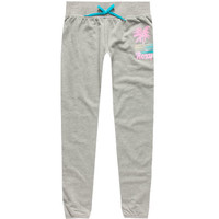 Roxy Palm Screen Girls Jogger Pants Gray  In Sizes