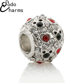 2016 High Quality New Silver Mickey & Minnie European Charm Beads Fit Pandora Bracelet & Necklace DIY Accessories Women Gift