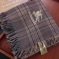 Burberry Woman Cashmere Scarf Shawl Silk Cape Scarf Scarves