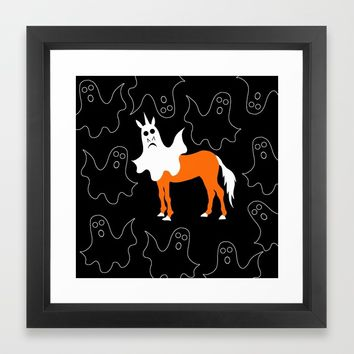 Boo Unicorn Framed Art Print by That's So Unicorny
