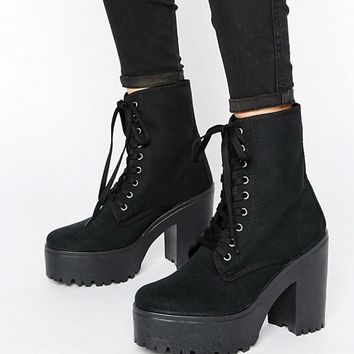 ASOS ENERGY Lace Up Boots at asos.com