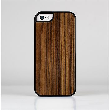 The Bright Ebony Woodgrain Skin-Sert Case for the Apple iPhone 5c