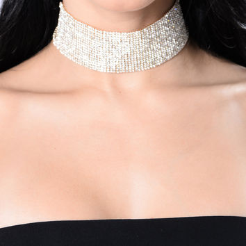 Don't Text Back Choker - Gold