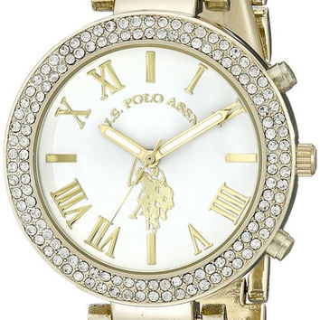 281 U.S. Polo Assn. Women's USC40063 Gold-Tone and Pink, black, and white Bracelet Watches