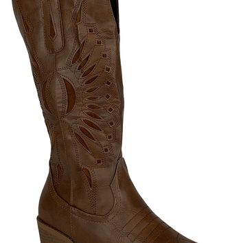 Riding with Courage Western Boots (Black,Brown)