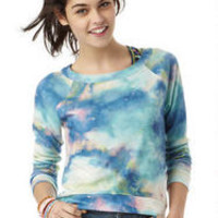Printed High-Low Pullover Galactic