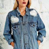 Light Before Dark Destroyed Denim Jacket - Urban Outfitters