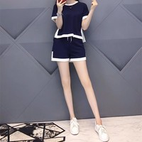 """Givenchy"" Women Casual Fashion Multicolor Short Sleeve Shorts Set Two-Piece Sportswear"