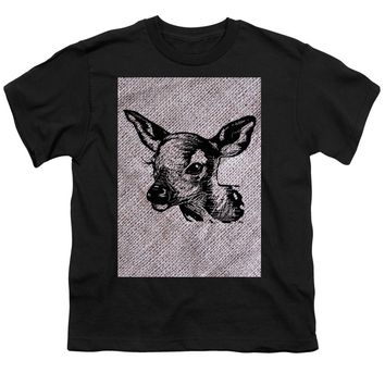Deer On Burlap - Youth T-Shirt